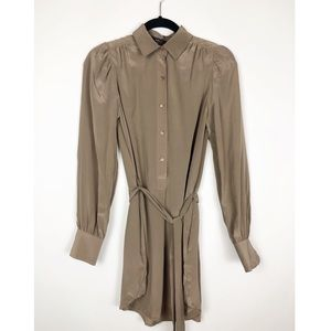 BCBG silk shirt dress